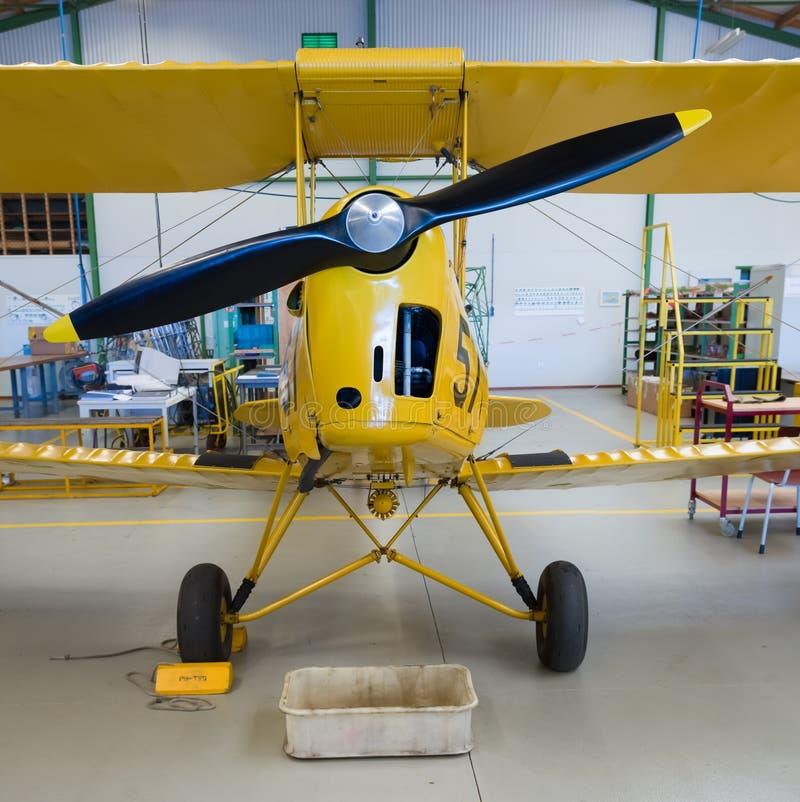 Propeller biplane stock images