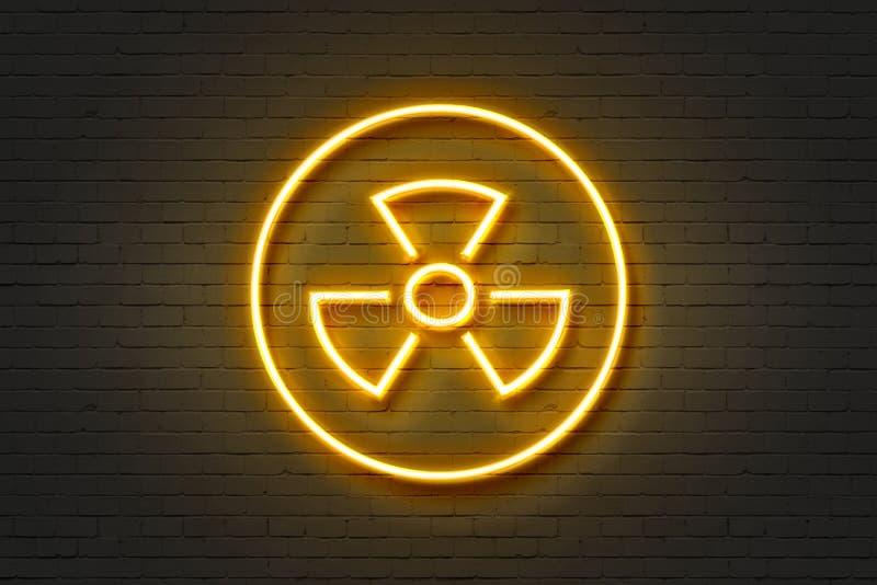 Propeller för symbol för neonljus royaltyfri illustrationer