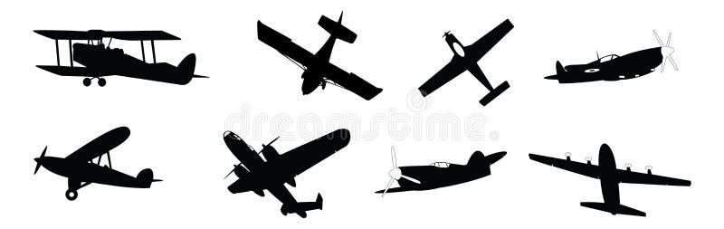 Download Propeller planes stock vector. Image of airplanes, biplane - 18609190