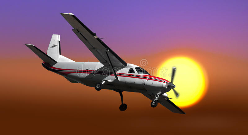 Propellerflygplan fotografering för bildbyråer