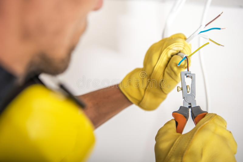 Proper Electrical System royalty free stock photography