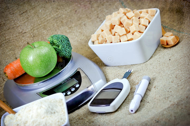 Proper nutrition - nutritional care. Proper nutrition to health without diabetes stock image