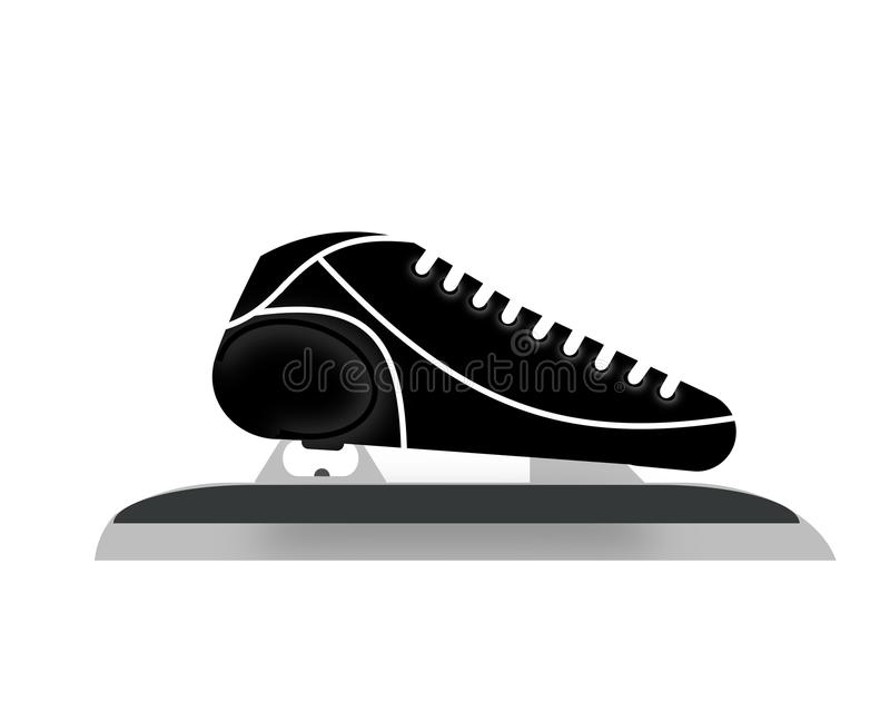 Skate for speed-skating royalty free stock photo