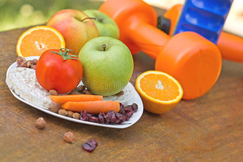 Proper way to healthy living. For everyone stock images