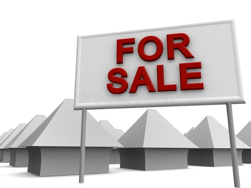 Properties For Sale royalty free illustration