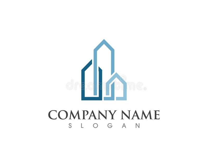 Property and Construction Logo design royalty free illustration