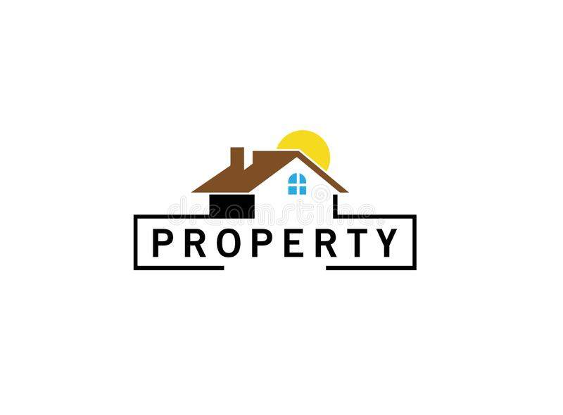 Property home management and rights or tax logo. Property home management and rights or tax for logo design illustration royalty free illustration