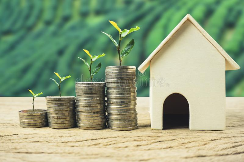 Property investment, home loan, house mortgage, real estate financial concept royalty free stock image