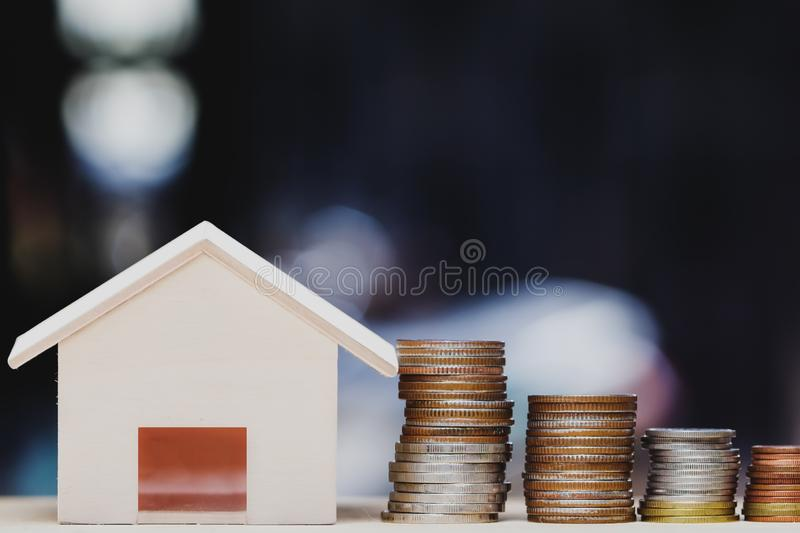Property investment, home loan, house mortgage, resident financial concept stock photography