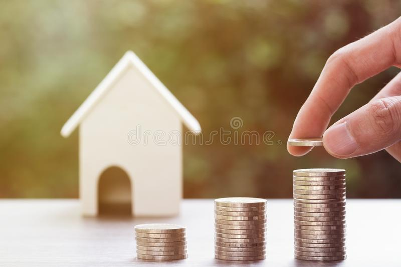 Property investment, home loan, reverse mortgage, Business and financial concept stock photos