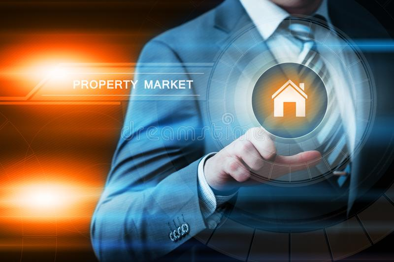 Property Investment Management Real Estate Market Internet Business Technology Concept stock images