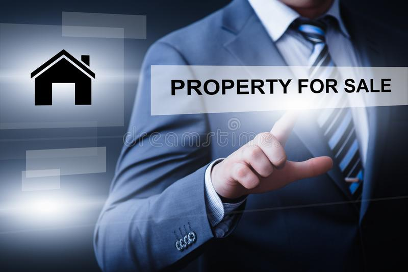 Property Investment Management Real Estate Market Internet Business Technology Concept.  royalty free stock photos