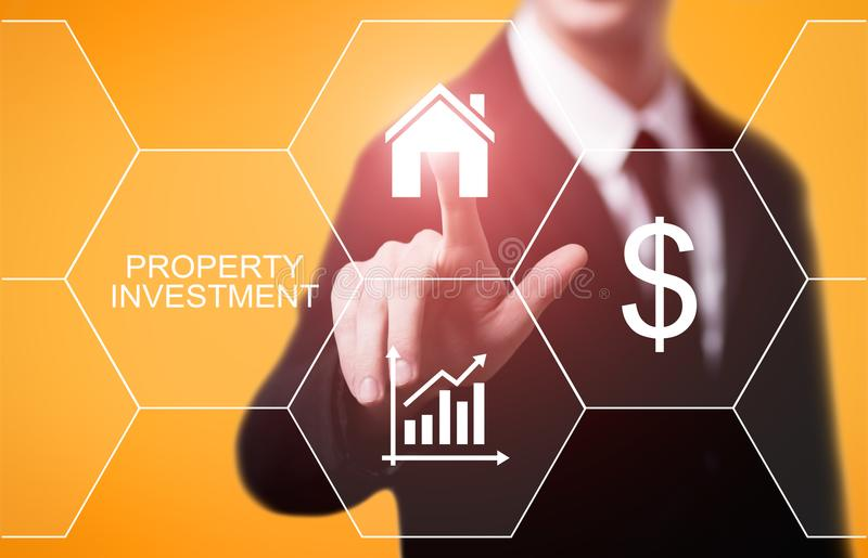 Property Investment Management Real Estate Market Internet Business Technology Concept.  stock photos