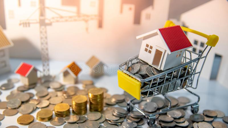 Property investment. Real estate business investing. Real estate or property investment concept. Home mortgage loan rate. Construction business investing. House stock images