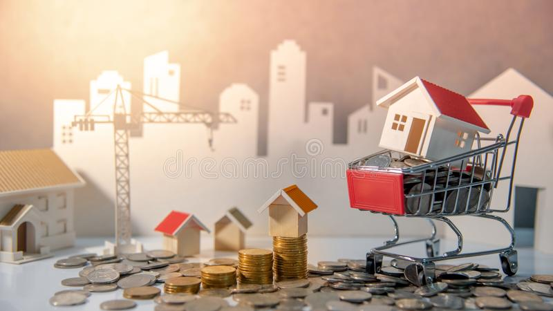 Property investment. Real estate business investing. Real estate or property investment concept. Home mortgage loan rate. Construction business investing. House stock photo