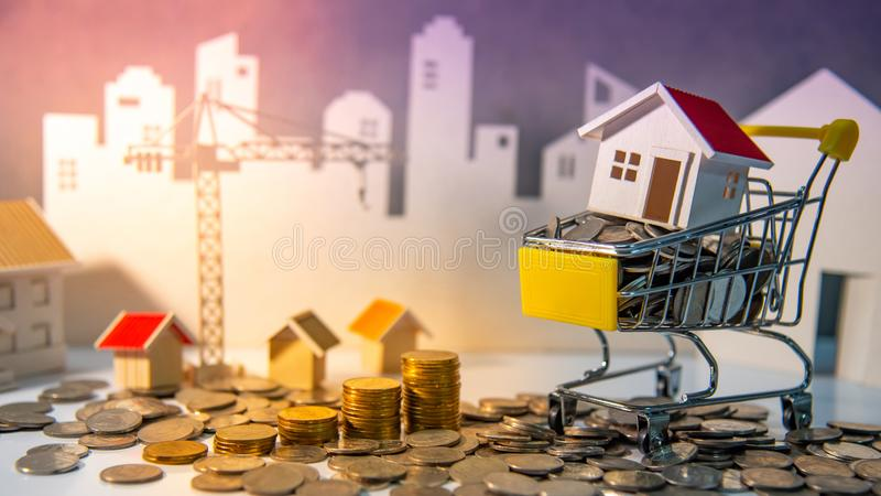 Property investment. Real estate business investing. Real estate or property investment concept. Home mortgage loan rate. Construction business investing. House stock photography