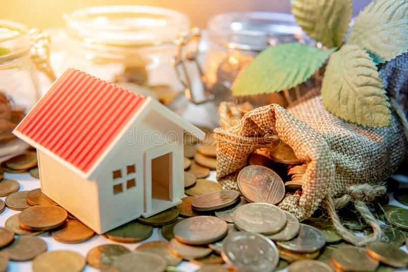 Property investment. Saving money concept stock photo