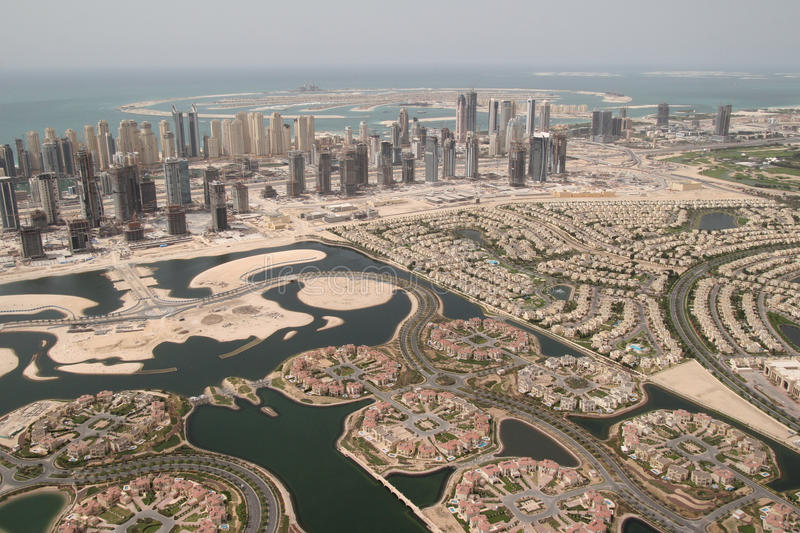 Property Landscape. Booming Property Market In Dubai stock image