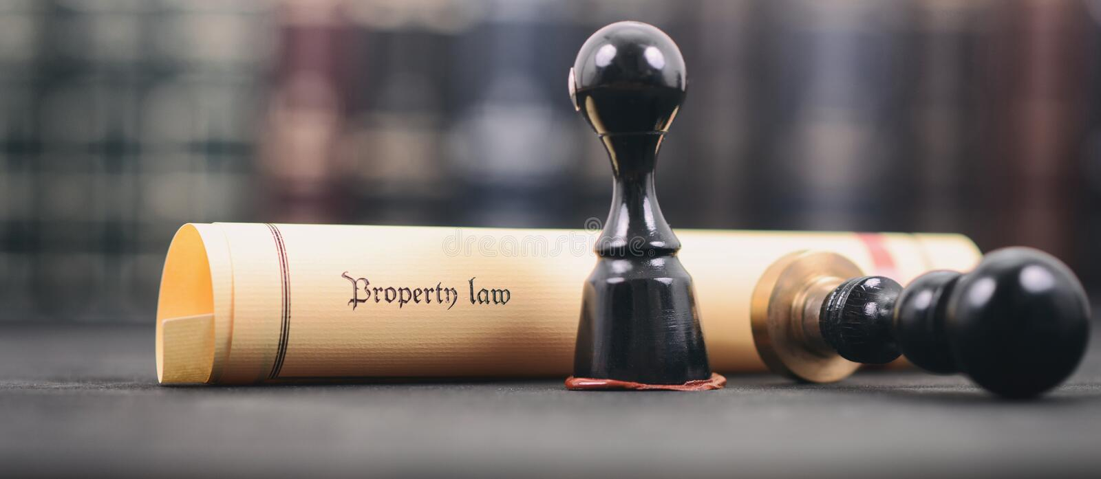 Property law , Notary seal , Legality concept, property law act royalty free stock photo