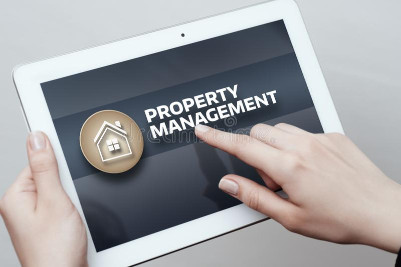 Property Management Real Estate Mortgage Rent Buy concept royalty free stock photography