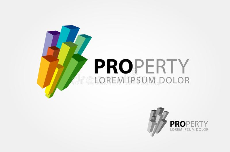 Property Multicolor Vector Logo vector illustration