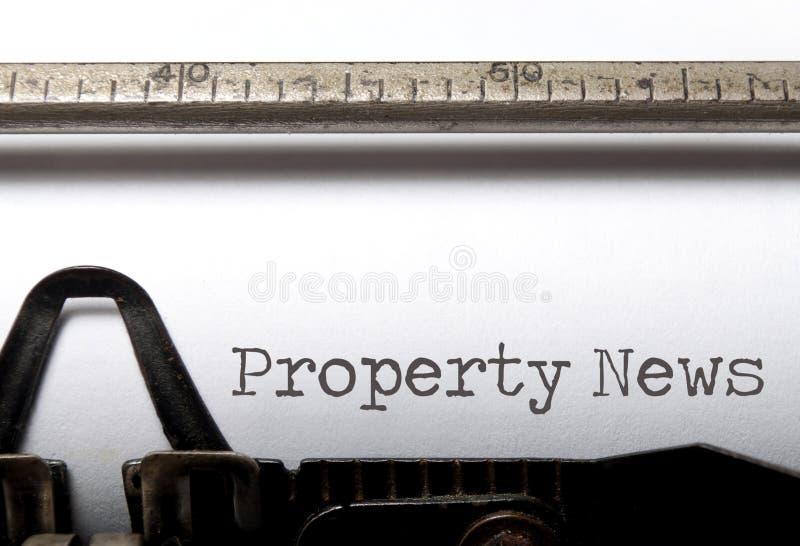 Property News royalty free stock image
