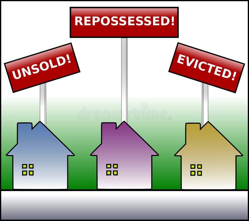 Property Plight colored warning vector illustration