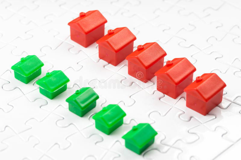 Property & real estate market game, buy house royalty free stock image