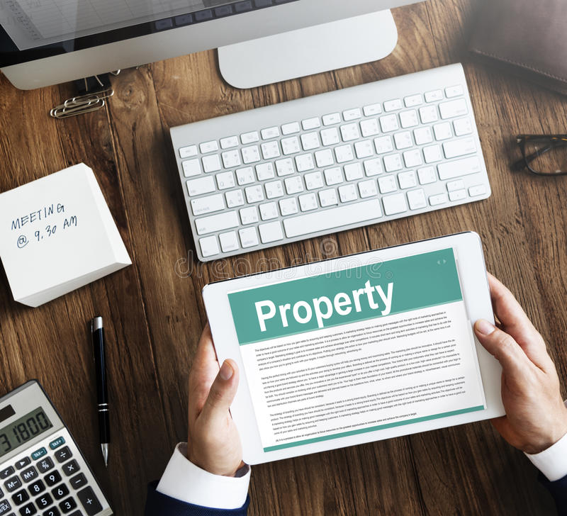 Property Release Form Assets Concept Stock Image  Image Of Loan