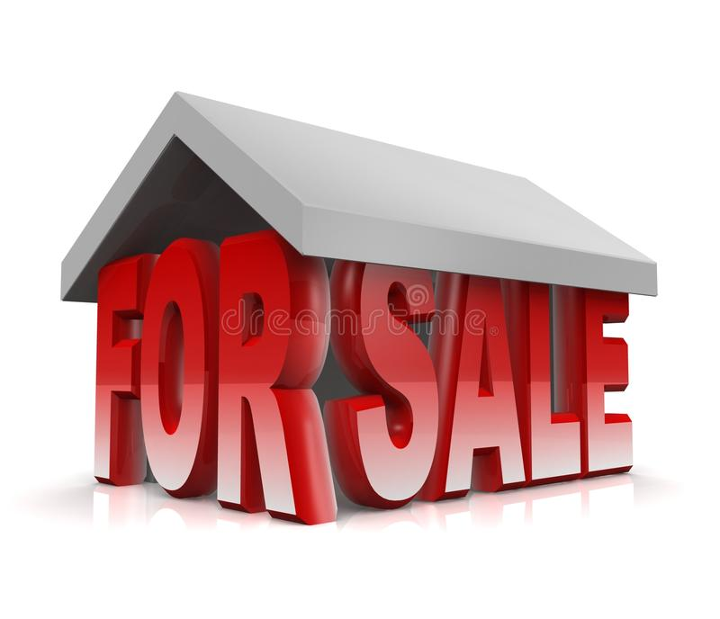 Property for rent concept stock illustration