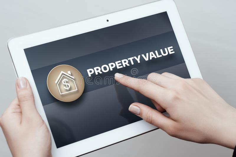 Property Value Real Estate Market Internet Business Technology Concept stock images