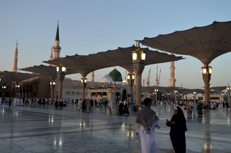 Proph?te Muhammad Mosque In Madinah Al-Masjid An-Nabavi Grande mosqu?e islamique dans Saudia Arabie photo libre de droits