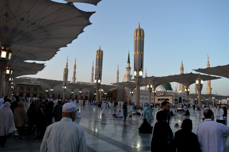 Proph?te Muhammad Mosque In Madinah Al-Masjid An-Nabavi Grande mosqu?e islamique dans Saudia Arabie photo stock