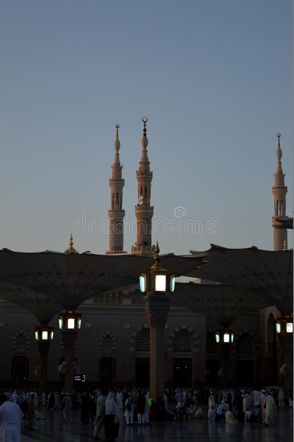Proph?te Muhammad Mosque In Madinah Al-Masjid An-Nabavi Grande mosqu?e islamique dans Saudia Arabie image stock
