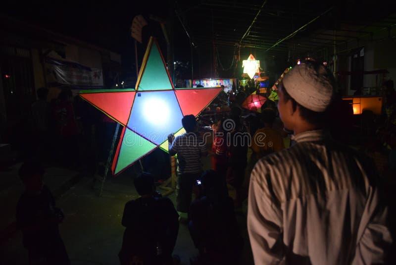 Prophet-Mohammeds Geburtstags-Feier stockfotos