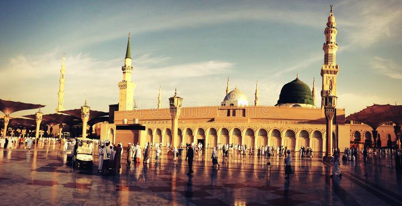 The Prophet Mosque stock photo
