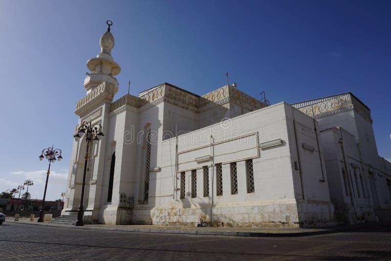 Prophet Mosque Masjid i Taubah, Tabuk, Saudiarabien arkivbilder