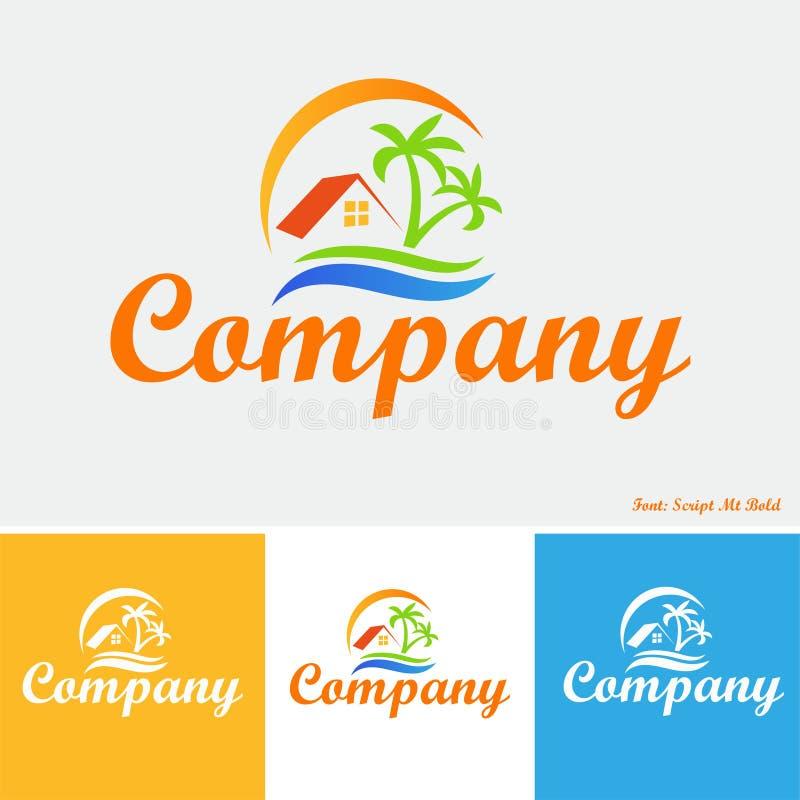 Propiedad en el logotipo de las zonas tropicales fotografía de archivo