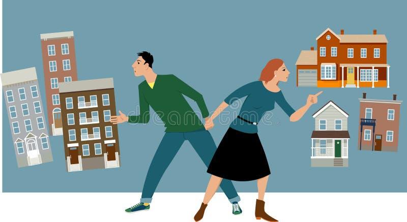Propiedad horizontal o casa stock de ilustración