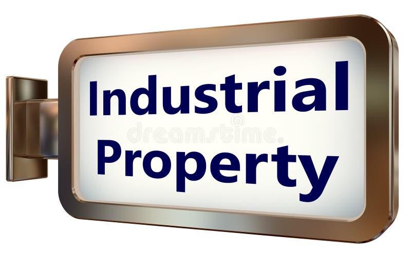 Propiedad industrial en fondo de la cartelera libre illustration