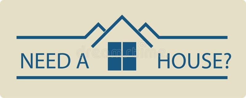 Propiedades inmobiliarias ilustración del vector
