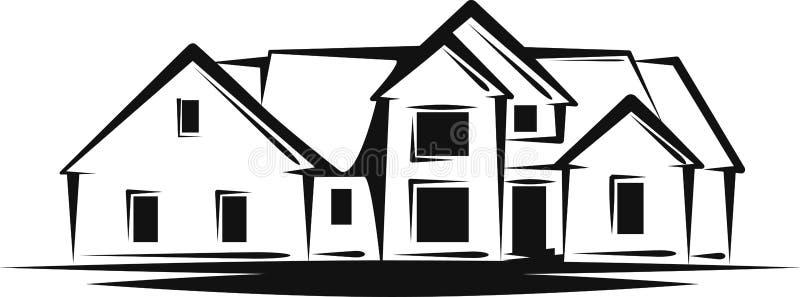 Propiedades inmobiliarias stock de ilustración