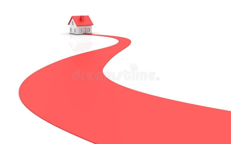 Propiedades inmobiliarias - casa stock de ilustración