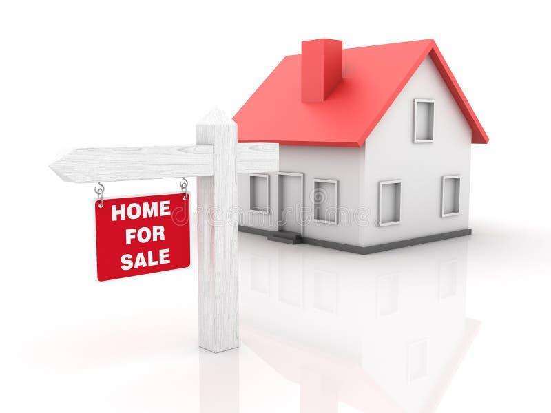 Propiedades inmobiliarias - casa para la venta ilustración del vector