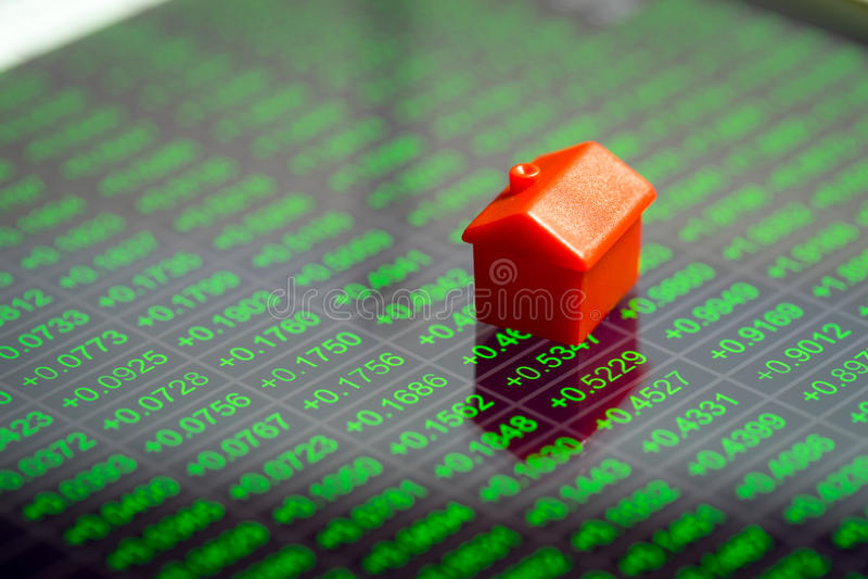 Propiedades inmobiliarias, casa y mercado inmobiliario imagenes de archivo