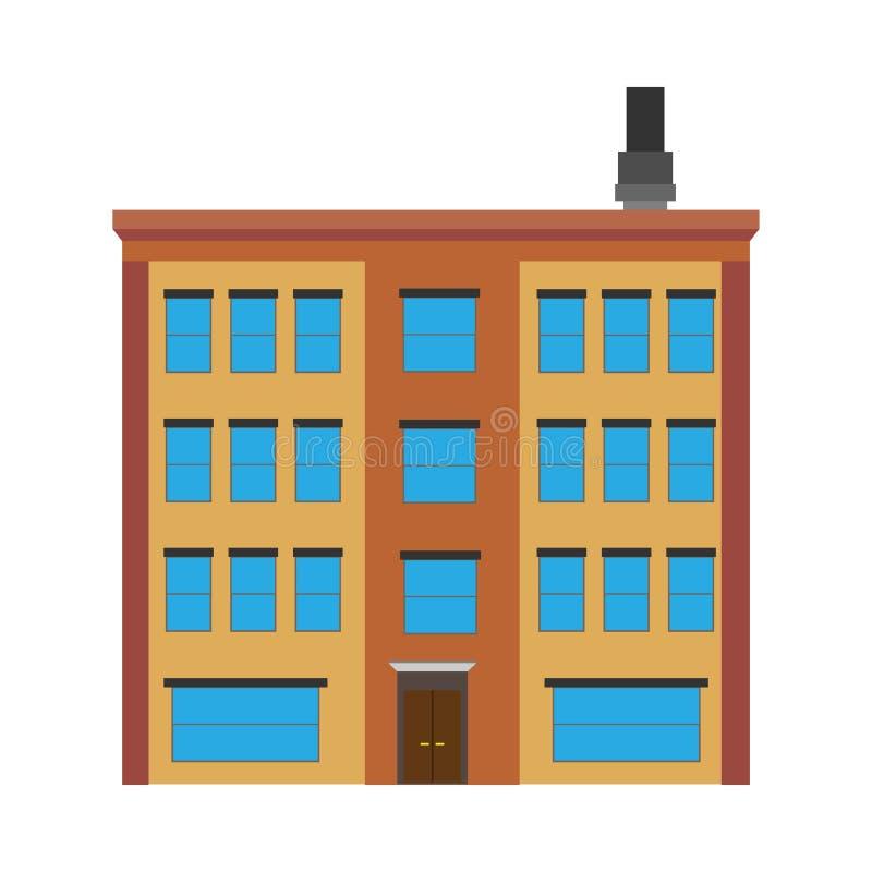 Propiedades inmobiliarias de la estructura del vector del concepto del edificio del edificio de apartamentos Exterior de lujo de  libre illustration