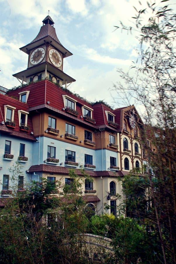 Propiedades inmobiliarias de lujo en Shenzhen imagenes de archivo