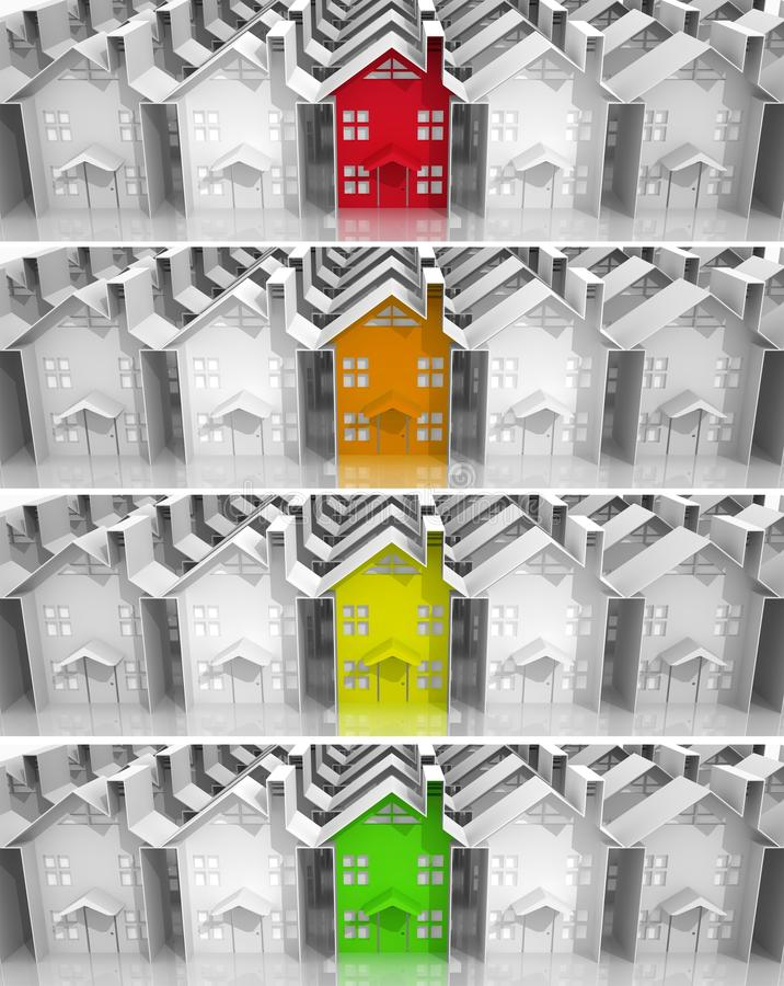 Propiedades inmobiliarias del mercado del líder de las banderas libre illustration