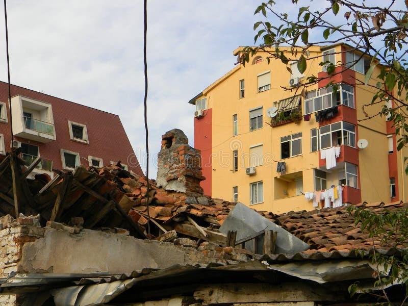 Propiedades inmobiliarias en Albania imagen de archivo libre de regalías