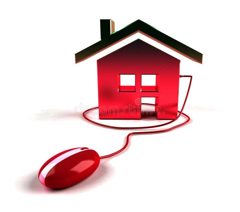 Propiedades inmobiliarias en el Internet stock de ilustración